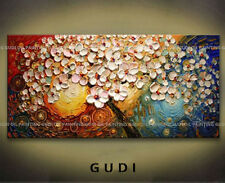 GUDI- Modern Abstract Manual Art Oil Painting Wall Decor Canvas Tree Unframed