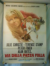 Via dalla Pazza Folla manifesto poster Julie Christie Far from the madding crowd