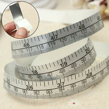 Vinyl Silver Self Adhesive Measuring Tape Ruler For Sewing Machine Sticker 150cm