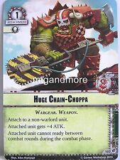 Warhammer 40000 Conquest LCG - Huge Chain-Choppa  #102 - Wrath of the Crusaders