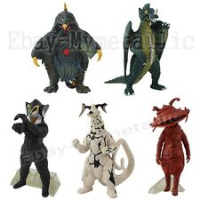 5pcs Set Ultraman Monster Kaiju Alien Mephilas Eleking Bemster 11cm-13cm Figure