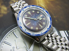RARE VINTAGE ARIOS WORLD TIME SWISS DIVER WIND UP BLUE DIAL GENTS.