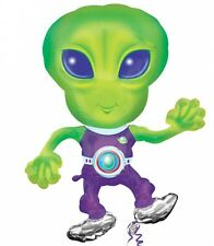 "44"" Dancing ALIEN UFO  Outer Space Mylar Birthday Party Balloon"