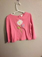 Gymboree Butterfly Blossoms Pink Long Tee Size 3T