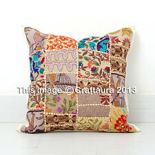 "24X24"" Extra Large Pillow Cover Vintage Embroidered Decor Throw Pillow Cushions"