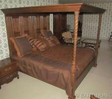 Ethan Allen Tester Bed King Size Royal Charter Oak Collection 16 5801