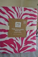 Pottery Barn Teen Funky ZEBRA 100% Organic Cotton Sheet set ~ Twin XL size ~