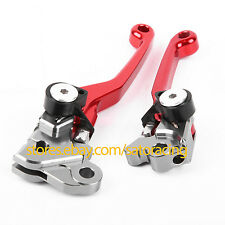 Red Color CNC Pivot Brake Clutch Levers For Honda CRF230F 2003-2009 2004 2005 06