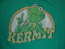 Kermit The Frog The Muppets Puppets Classic Style Cartoon Green T Shirt XL / L
