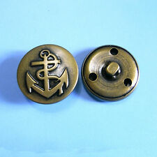 10 Large Metal Brass Antique Jacket Coat Anchor Sew On Military Button 23mm G207