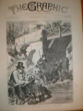 Angling Pont de Neuilly while Paris riots 1871 print