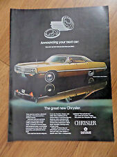 1969 Chrysler Newport Custom 4 Door Hardtop Ad