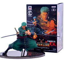 "Anime One Piece Roronoa Zoro Battle Ver 5.5"" PVC Figure new with original box"