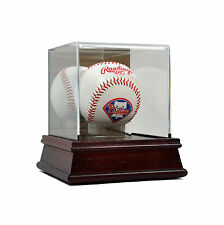SAF-T-GARD Cherry Wood Base Baseball Deluxe Acrylic Display Case with Stand AW14