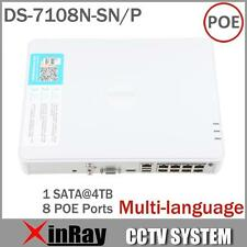 Hikvision Multi-language DS-7108N-SN/P Plug & Play 8CH PoE NVR for HD IP Camera