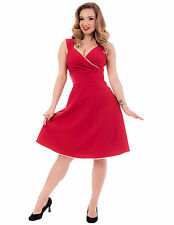 STEADY CLOTHING RED DIVA SWING DRESS - 1950s ROCKABILLY PIN UP GIRL - 2X