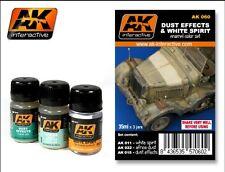 AK Interactive Dust Effects & White Spirit Enamel Paint Set (11,15,22) AK 60