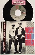 Pet Shop Boys 45 West End Girls / A Man Could Get Arrested  w/ts  w/PS