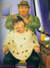 "Art Repro oil painting:""Fernando Botero Portrait at canvas"" 24x36 Inch #040"