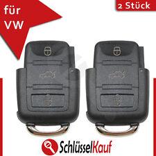 2 Stück VW Klappschlüssel 3 Tasten Gehäuse Volkswagen Seat Skoda Auto Schlüssel