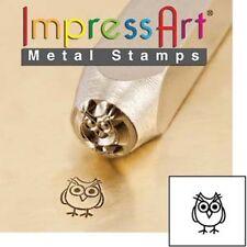 Metal stamp, punch, hootie, owl, bird, 6mm