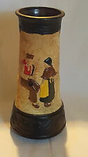 Bretby vintage Art Deco antique Dutch man & woman design large vase A