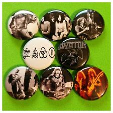 "LED ZEPPELIN  1"" buttons badges JIMMY PAGE ROB PLANT"