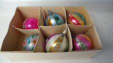 BEAUTIFUL Vintage 6 OLD Christmas Tree Ornament Balls Decorations