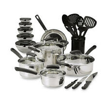 25-Piece Essential Stainless Steel Mega Cookware Set Pots And Pans Kitchen
