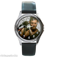Daryl Dixon The Walking Dead Zombie Round Metal Analog Watch Leather Wristband