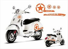 Vespa GT GTS 300 Super S Star Decal sticker 5pcs. set V.2 - Orange Matt