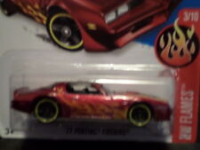 HW HOT WHEELS 2016 HW FLAMES #3/10 '77 PONTIAC FIREBIRD HOTWHEELS RED VHTF