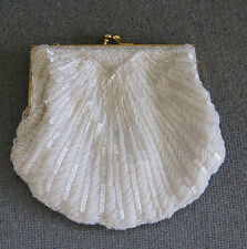 Hot Women Pearl Beaded Messenger Bag Bridal Handbag Evening Party Purse Clutch