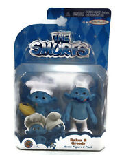 NEW The Smurfs Movie 2 Pack Figures Baker AND Greedy SMURF PEYO RARE NEW IN BOX