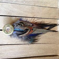 country Cartridge shooting brooch, pheasant, partridge feather Hunting Tweed Wax