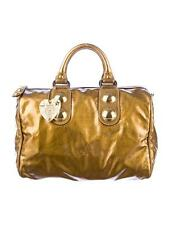 GUCCI Babouska Hawaii Exclusive Boston Bag Antic Gold Leather Heart Crest Tote