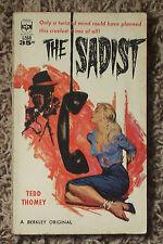 VINTAGE 1961 SEXY BONDAGE GGA COVER PAPERBACK THE SADIST TEDD THOMEY