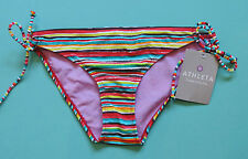 Athleta Bikini Bottom Multi-Color Striped Montego XXS NWT New