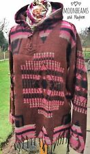 FAB NEW BROWN AZTEC FLEECE UK SIZE 10 12 14 HIPPIE BOHO TOP SHORT JACKET COAT