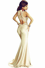 New elegant gold lace evening prom cocktail mermaid dress AVAILABLE Size10-12-14