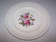 JOHNSON BROTHERS OLD ENGLISH 10 INCH DINNER PLATE - BLUE STRIPE & ROSES