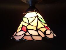 "Tiffany Style Stained Slag Glass Leaded Chandelier or Floor Lamp Shade 2 1/4"" f."