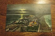 Vintage postcard Tent City by moonlight Coronada CA Calif California Ed Mitchell