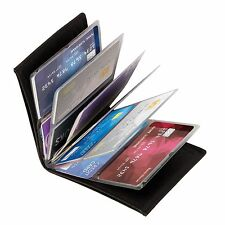 Wonder Wallet - Amazing Slim RFID Wallets As Seen on TV Black Leather Gifts MEH