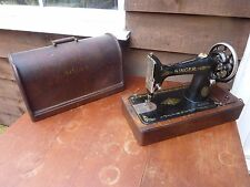 Vintage Singer 99K Sewing Machine 1914 Bentwood Case Great Condition Collectable