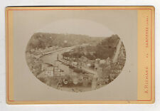 PHOTO ANCIENNE CABINET Dinan par A. Richard Dampierre Pont Vers 1900 Ovale