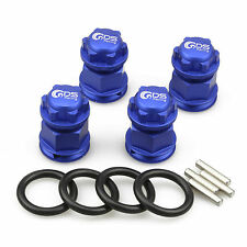 4PC GDS Racing Extended Wheel Hex Hubs and Wheel Nut Blue for Losi 5ive T