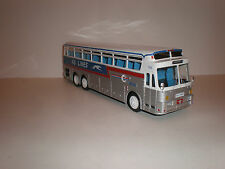 """1/43BUS SILVER EAGLE 05/40 """"KG LINES"""" 1969 with greyhound on body"""