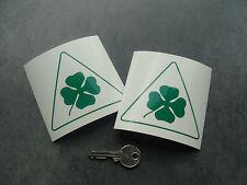 2x stickers auto delta corse vert 90mm decal pegatinas Alfa Romeo A240-061