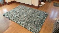 JELLYBEAN PURE NEW ZEALAND FELTED WOOL FLUMP RUG DUCK EGG 80x 150 cms rrp £200